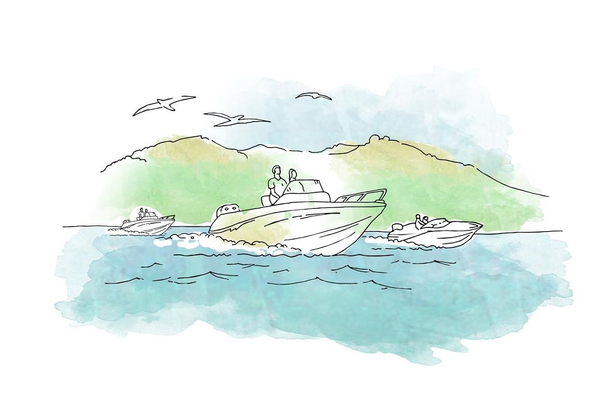 Split speed boat challenge