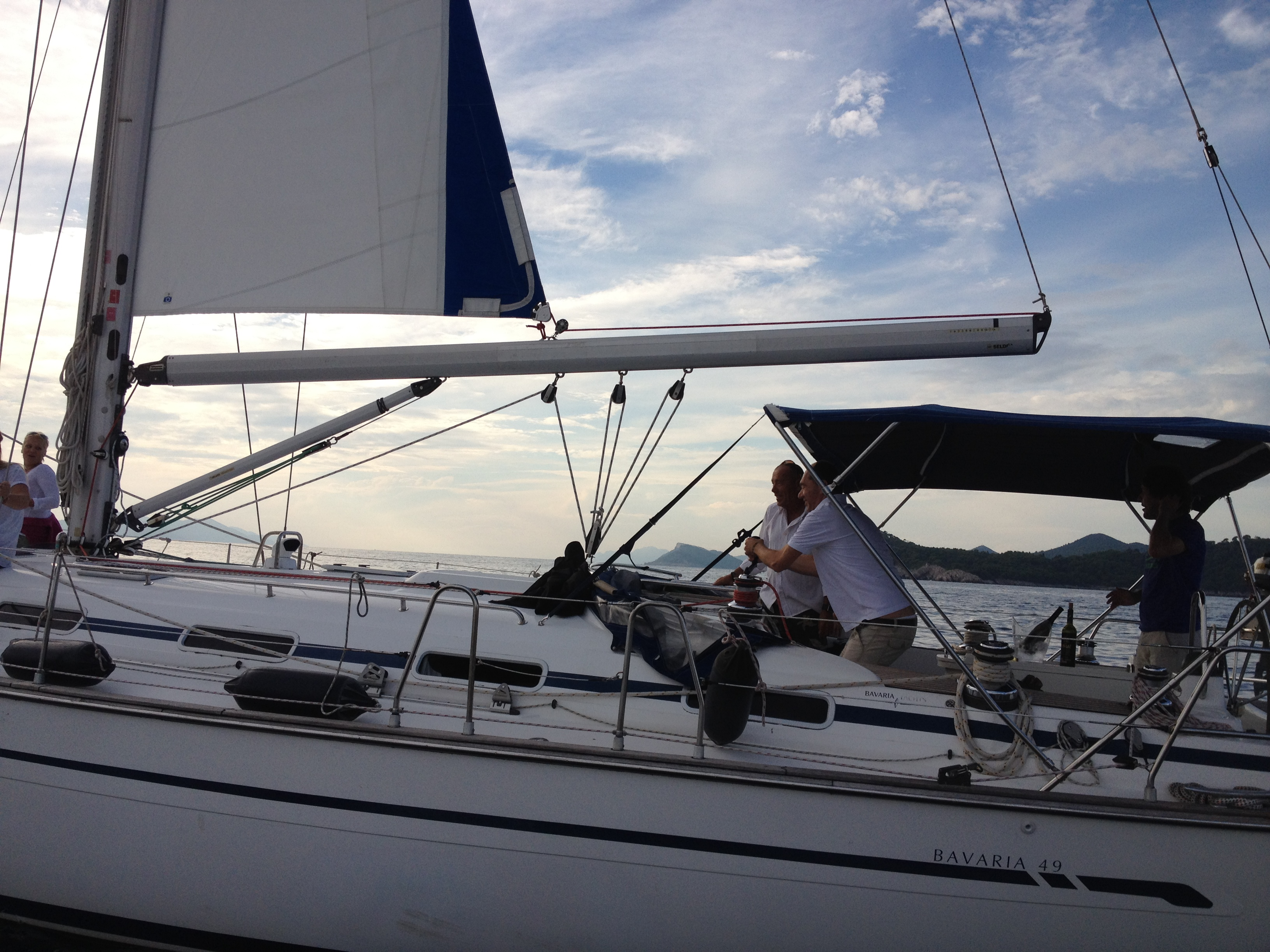 Sailing Regatta memebers take turns to captain boat