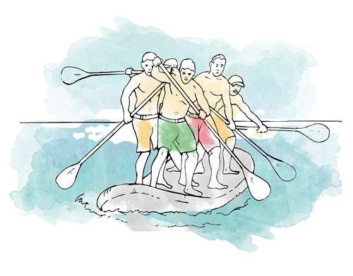 Wild Stand up paddle board race